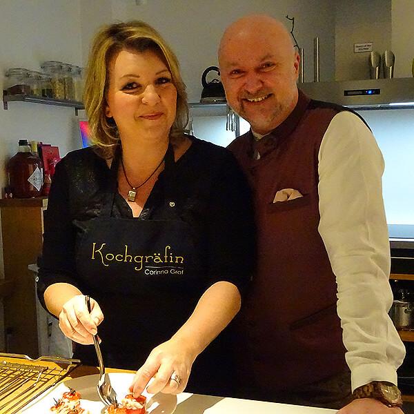 Corinna Graf mit Verstärkung in der Küche