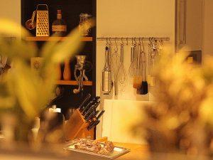 Ambiente im Lille Eventhus der Kochgräfin Corinna Graf