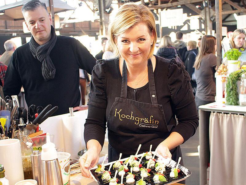 Kochgräfin Corinna Graf im Einsatz auf der Eat & Style 2019